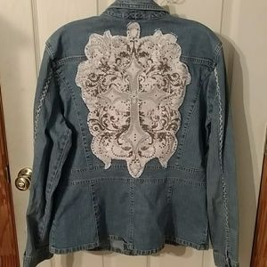 denim jacket with cross redesigned